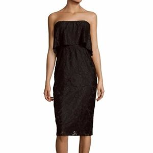 Likely Strapless Popover Lace Dress